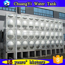 food grade stainless steel 304 waste water tank/SUS sectioanl water tank/water treatment SUS tank