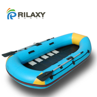 Rilaxy River and Lake Small Folding Fishing Boat, Lightweight Sport Inflatable Fishing Boat SIB270F
