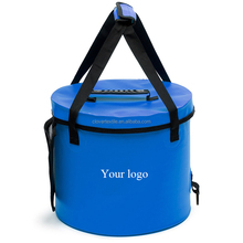 OEM Service ECO Friendly Outdoor Camping Hiking Picnic PVC Tarpaulin Small Foldable Water Bucket