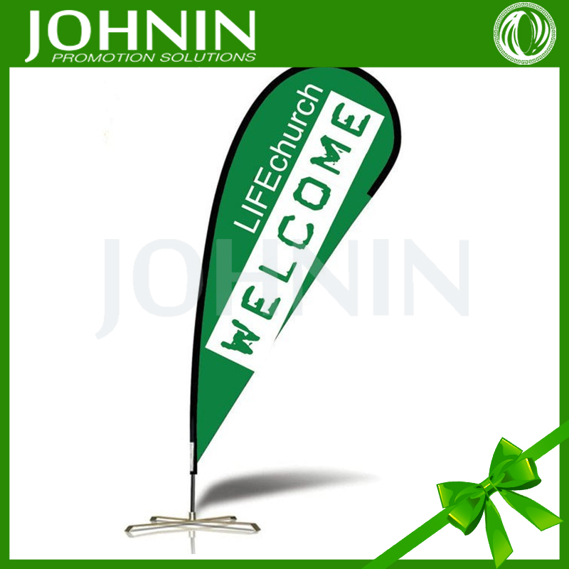 Promotion Knitted Polyester Full Color Printed Flag Teardrop Banner