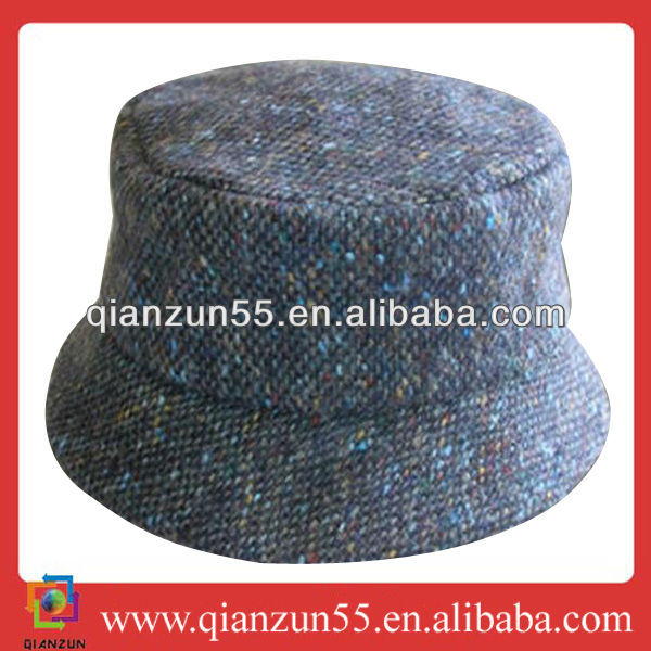 design unique simple jewish blue bucket hat for mens wholesale wool bucket cap for sale