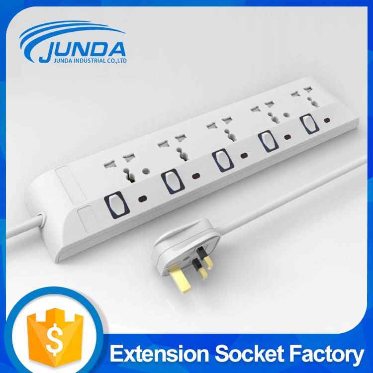 Guangzhou factory hot selling Ul universal power strip 5 way electric philippines type socket