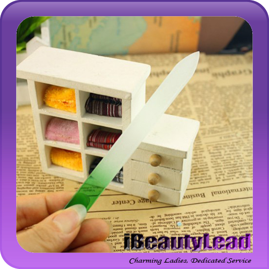 double sided glass nail file nail emery board