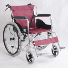 Low price aluminum alloy lightweight folding self propelled standard wheelchair
