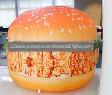 inflatable hamburger model replica for sale