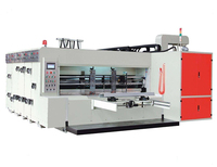 Carton machinery high speed automatic flexo printing slotting and die-cutting machine