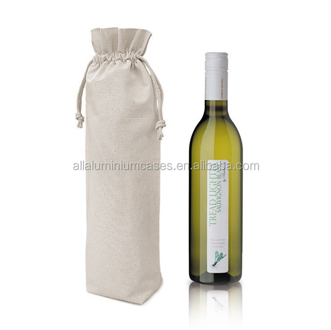 China wholesale canvas cotton drawstring wine bag /cotton bag