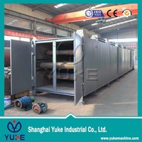 High efficient Hot air Continuous charcoal/briquette drying machine