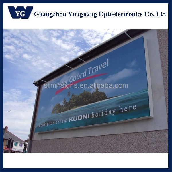 Large external light boxes waterproof outdoor used led signs