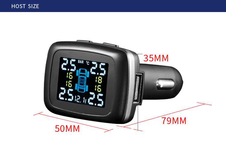 China Factory Direct Bluetooth 433.92MHz Car Tire Pressure Monitor