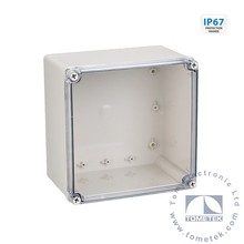 200*200*95mm IP67 Clear PC cover plastic electric box type Outlet and Connection box