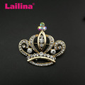 Luxury Rhinestone Crown Brooch for Bridal