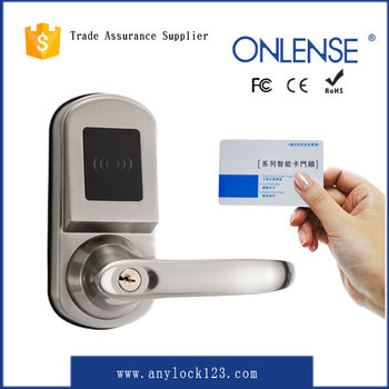 electronic rfid key lock for hotel system