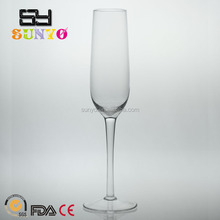 Clear transparent leadfree glassware manufacturing crystal model in stocks champagne glass handmade