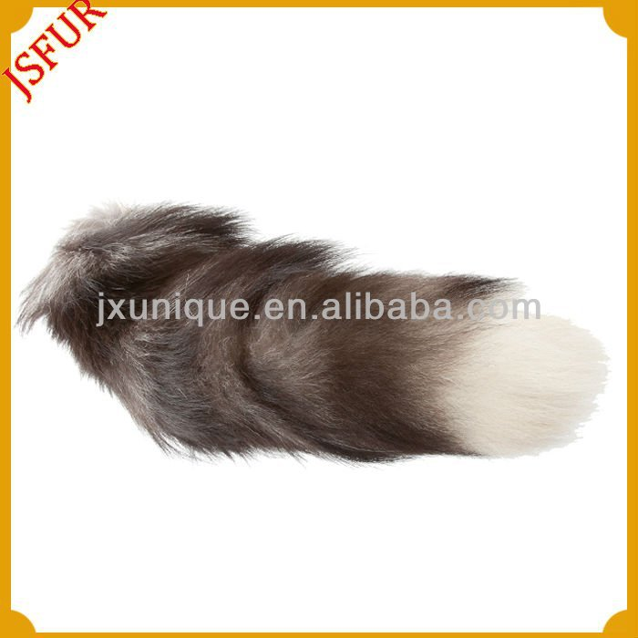 Fox tail keychain for women's garments or handbags fox tails wholesale