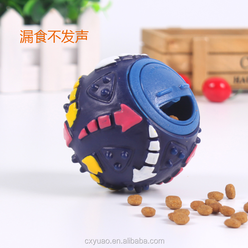 Plastic magic squeaky leaking food pet ball intelligence toys for dogs