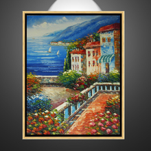 Beautiful Mediterranean handmade scenery oil painting on canvas for bedroom