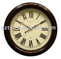 Large wall clock with antique finish