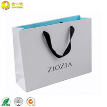Wholesale custom printed paper bag shopping gift bag with cotton handle