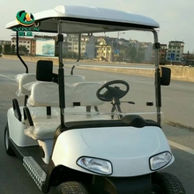 White cool club car golf cart mini 4 wheel drive electric golf cart with ce for sale