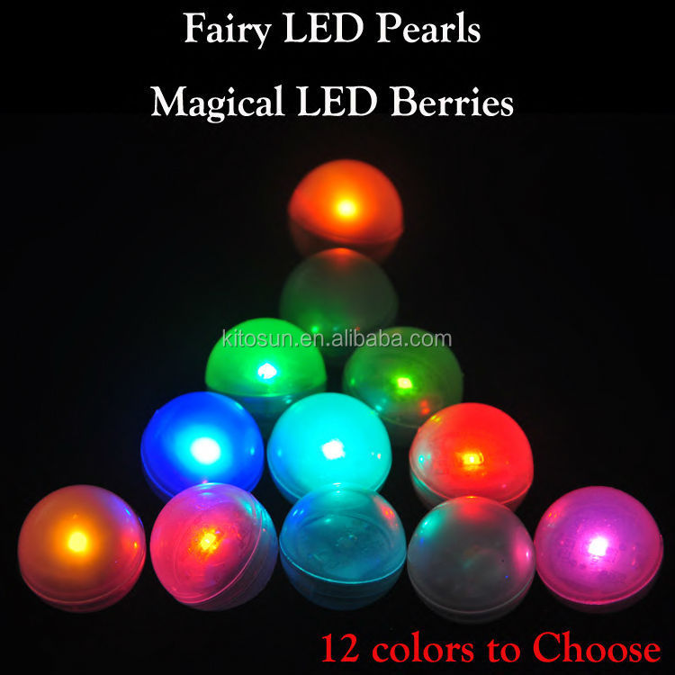Chinese new year decoration !!! Orange Magical LED Berries Battery Operated Mini LED Glowing Ball Firefly Fairy LED Light
