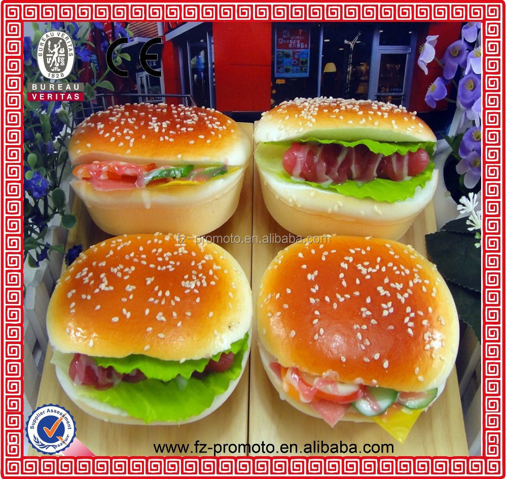 simulation bread and hamburger/artificial bread model/display/promotion/decoration