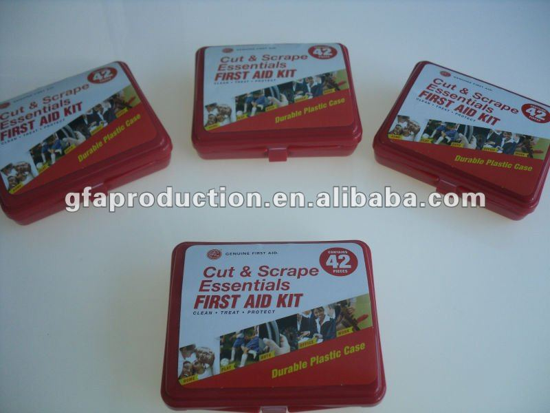Pocket/Mini/Promotion first aid kit- 42 pcs - Hard Case