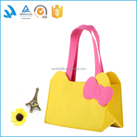 Easy carry outdoor cute felt picnic lunch bag for two person