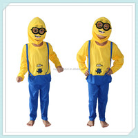 Party carnival kids children girl Despicable Me minion fancy dress costume movie mascot costumes kids mascot costumes
