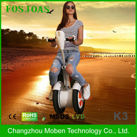 2016 bluetooth music adult self balance scooter 2 wheel motorcycle balanced unicycle smart scooter Fosjoas K3 Airwheel A3