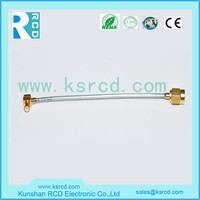 RF cable assembly with SMA connector,SMA-C-KY1.0_RG178_MCX-C-JW1.0