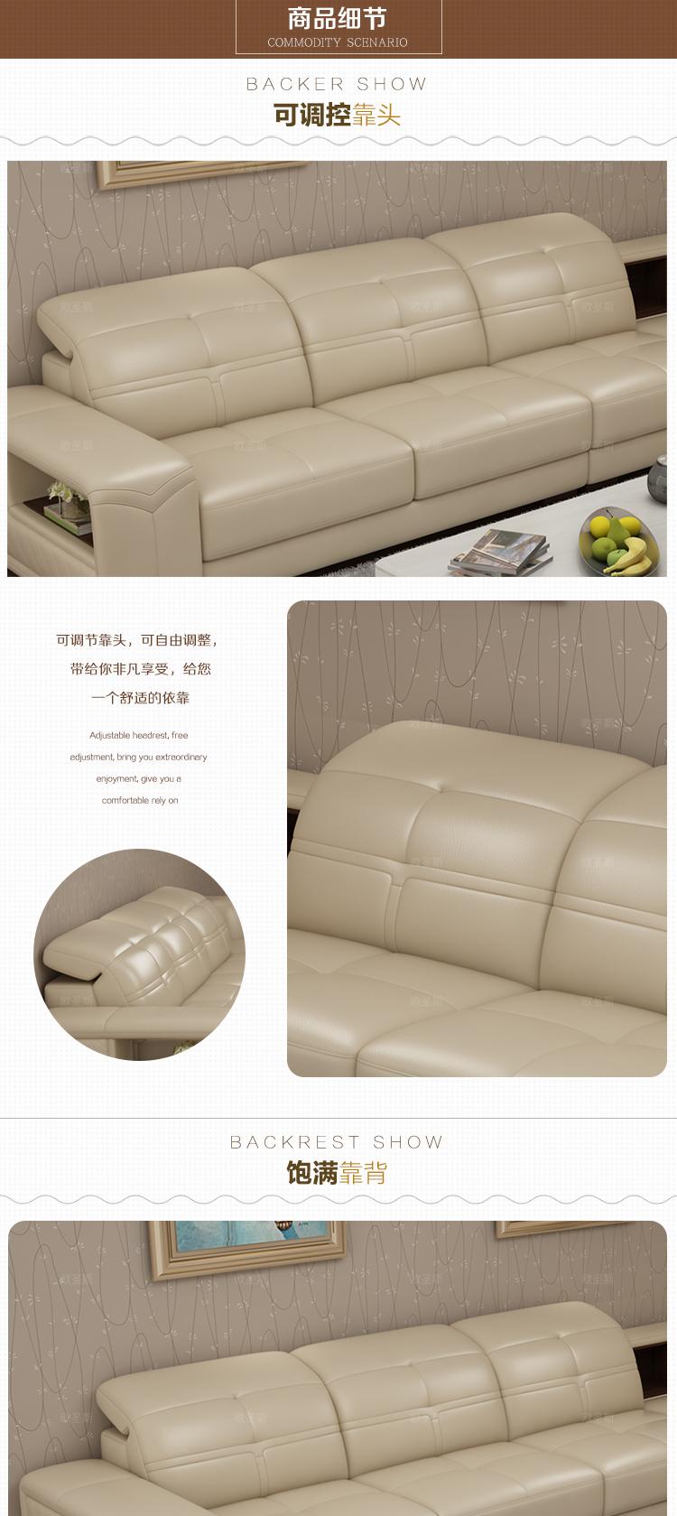 2017 New l shape modern sectional furniture living room full leather ...