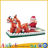 Durable inflatable christmas santa sleigh,christmas decorations