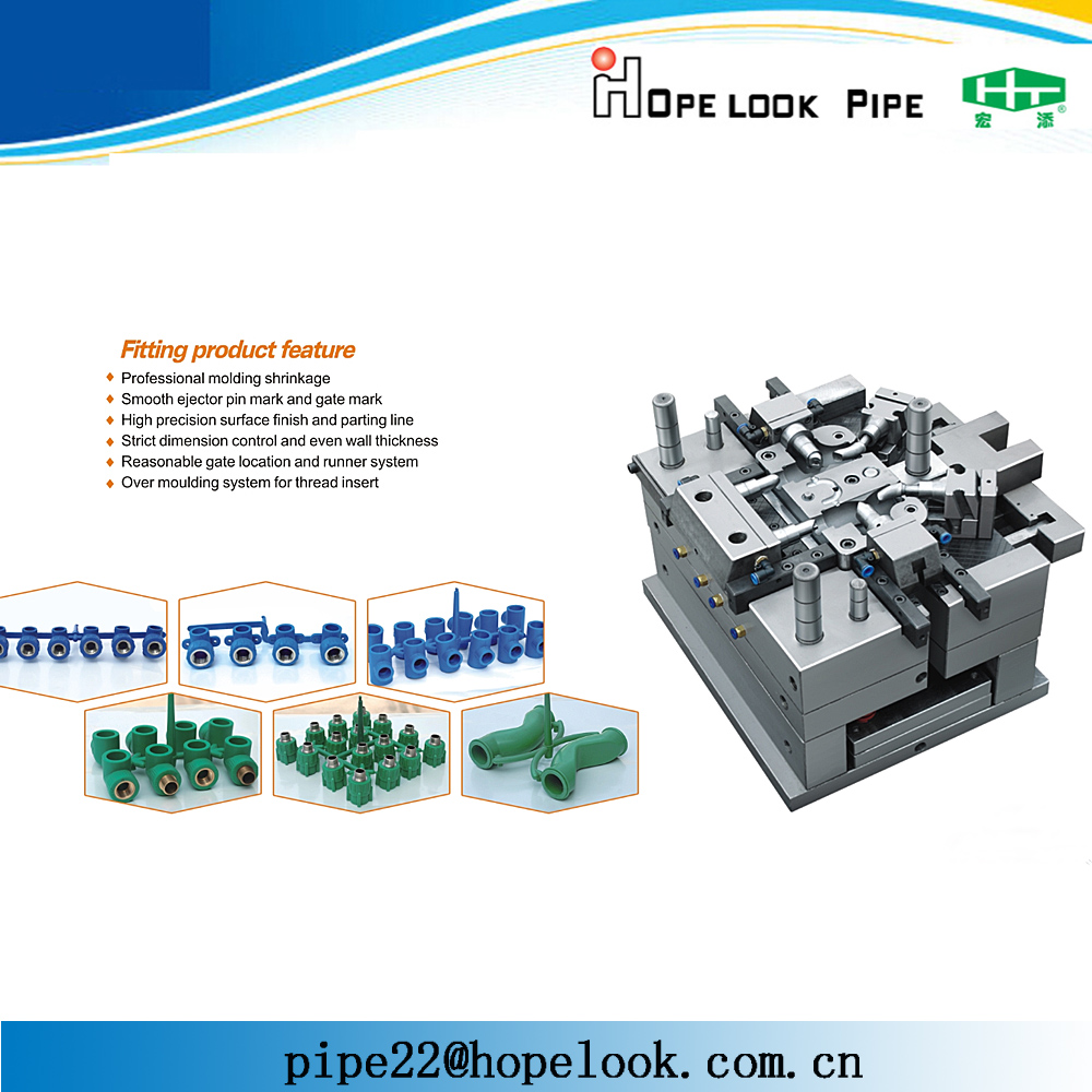 Factory standard PPR plastic fittings mould injection molding cost