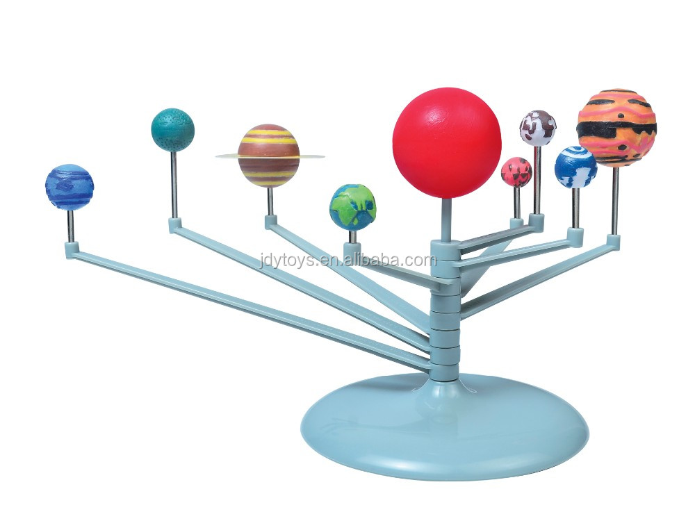 Educational DIY Nine Planets Solar System toys for kids