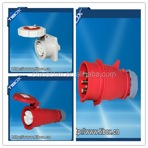 2015 Newly developed TIBOX fireproof waterproof electrical plug with bulb holder