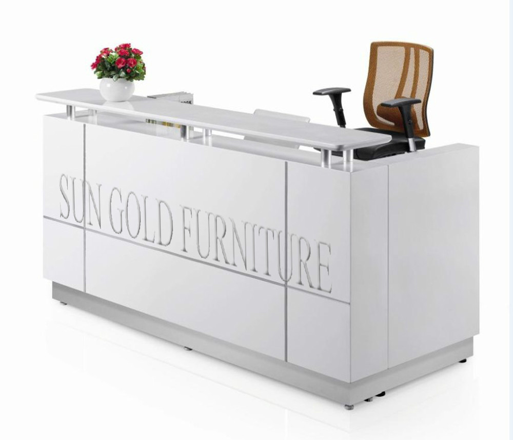 Salon Small White Reception Desk (sz-rt015) - Buy Small Reception Desk