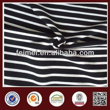 New Handsome Environmental Protection French 100% Cotton Stripe Terry Shirting Fabric
