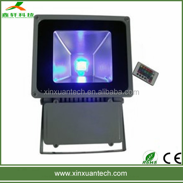 High quality Epistar chip ip65 led floodlight 80 watt flood lights with rgb remote controle