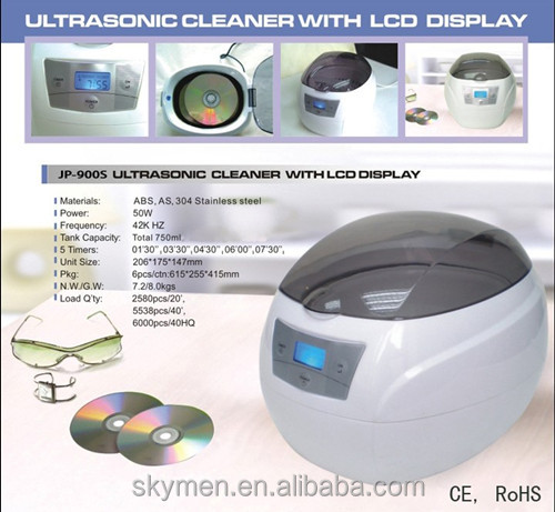 750ml freshlook contact lenses cleaner sun glasses washer ultrasonic eyewear cleaner JP-900S
