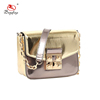 CL15-090 Gold and rose gold PU metallic mini ladies bags handbag