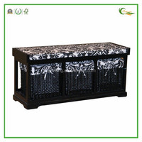 Customized Black Color Solid Wood Furniture