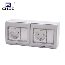 CHBC Germany Most Popular 16A 250V Electric Water Proof Wall Switch And Socket