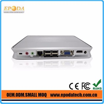 Linux Smart Mini Pc Fanless C1037U Dual LAN HOMI 1080P, support 3D games and VLC HD streams