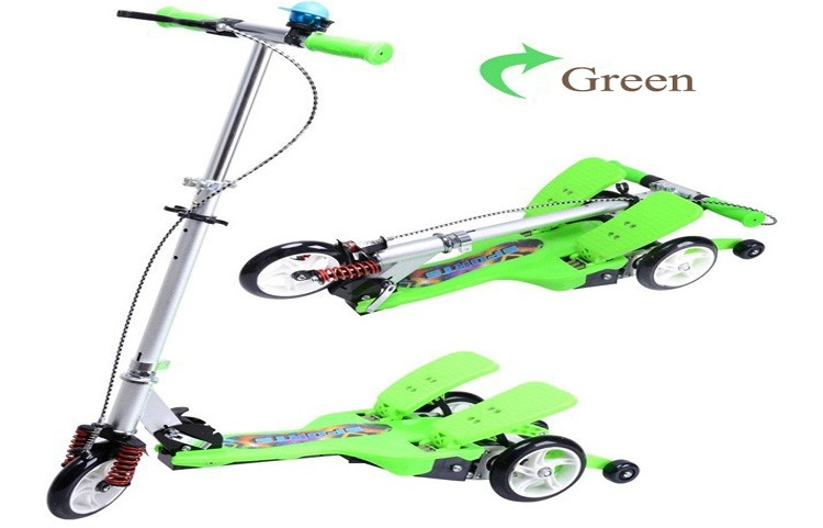 kids pedal racing kick twin pedal scooter