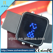 Wholesale Price Silicone Sport Mirror LED Watch Hot