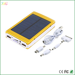 hot new products for 2016 solar power bank usb charger 10000mah mobie polymer powerbank