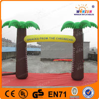 Outdoor advertising EN71 inflatable plam tree arch