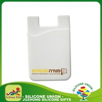 Promotional 3m silicone card holder for cell phone , 3m sticker smart wallet mobile card holder