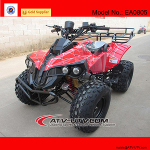 shaft drive electric quad atv with differential mechanism